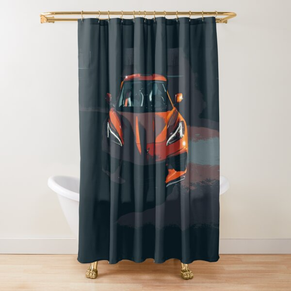 Chevrolet Corvette C8 Shower Curtain
