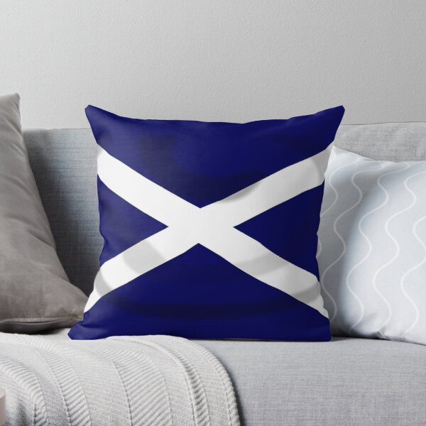 SALTIRE FLAG. FULL COVER. Scotland, Flag of Scotland, Scottish Flag, Saltire, SNP, S.N.P, Scottish Independence, Scots. Throw Pillow