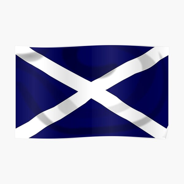 SALTIRE FLAG. FULL COVER. Scotland, Flag of Scotland, Scottish Flag, Saltire, SNP, S.N.P, Scottish Independence, Scots. Poster