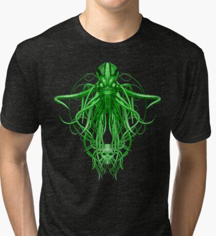 Cthulhu in green Tri-blend T-Shirt