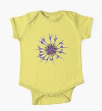 Thin blue flames Short Sleeve Baby One-Piece