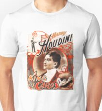 Harry Houdini Master of Cards Vintage Unisex T-Shirt