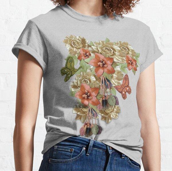 Leather Flowers & Butterflies Classic T-Shirt