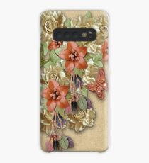 Leather Flowers & Butterflies Case/Skin for Samsung Galaxy
