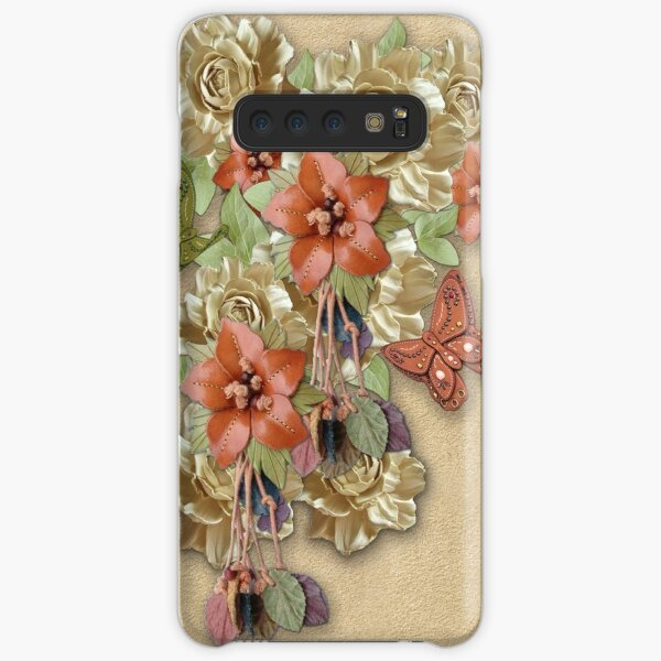 Leather Flowers & Butterflies Samsung Galaxy Snap Case