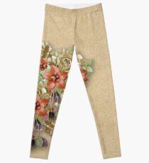 Leather Flowers & Butterflies Leggings