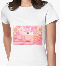 Pink Camera Womens Fitted T-Shirt