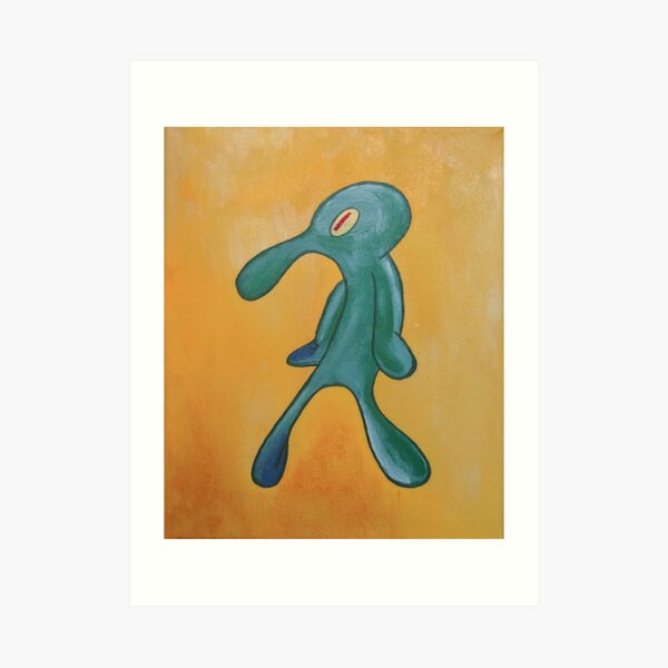 Bold and Brash Spongebob Squarepants Art Print
