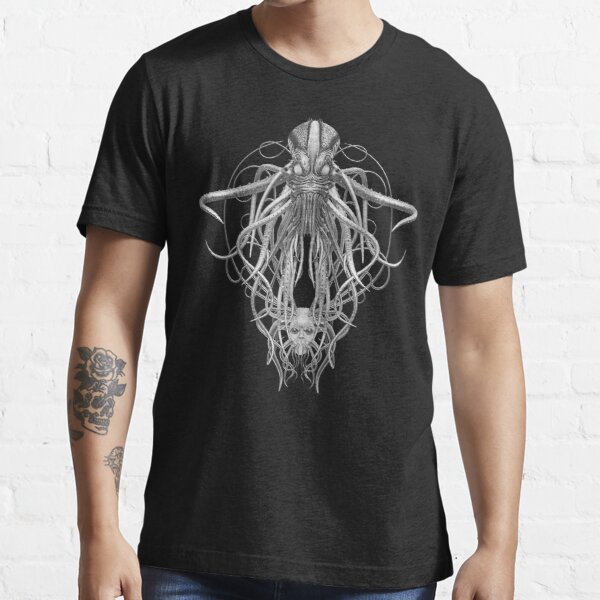 Cthulhu / Kraken in Black and White Essential T-Shirt