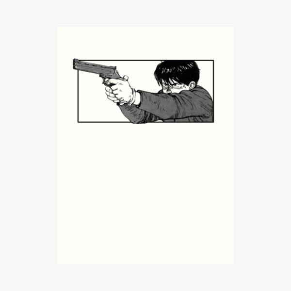 Akira kaneda gunpoint (clean) Art Print