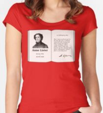 Anne Lister memorial book Fitted Scoop T-Shirt