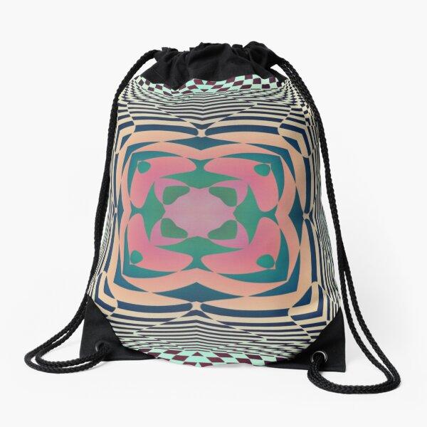 #Motif, #Visual, #Art, #Circle, 2D Shape, pattern, abstract, decoration, design, illustration, ornate Drawstring Bag