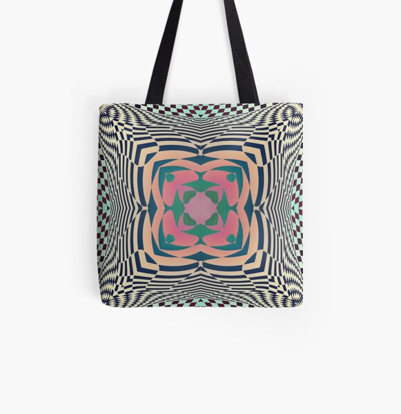 #Motif, #Visual, #Art, #Circle, 2D Shape, pattern, abstract, decoration, design, illustration, ornate All Over Print Tote Bag