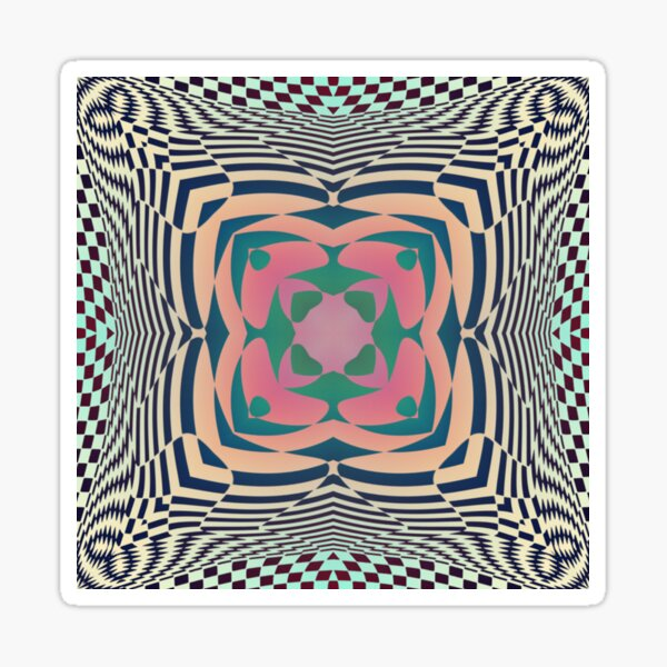 #Motif, #Visual, #Art, #Circle, 2D Shape, pattern, abstract, decoration, design, illustration, ornate Sticker