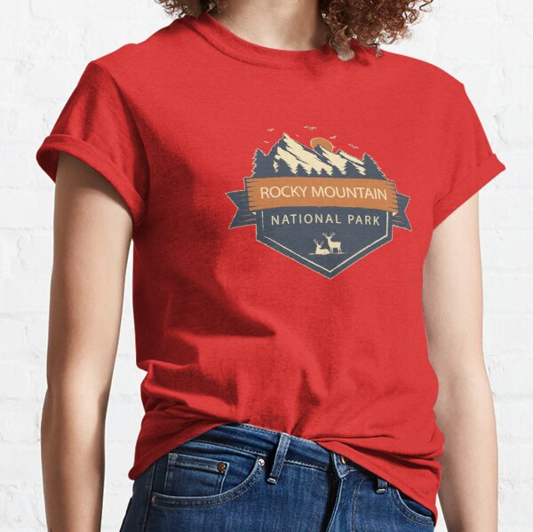 Rocky Mountains National Park Retro Mountain Sticker Classic T-Shirt