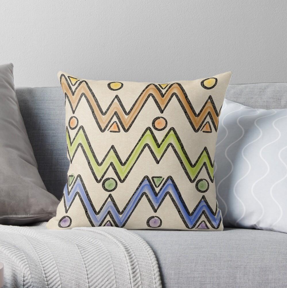 Native Glyphs Throw Pillow