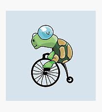 Turtle Likes to Ride. Photographic Print