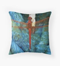 Red Dragon Throw Pillow