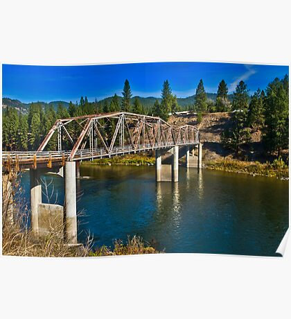 Westfall Bridge, Lozeau, Montana Poster