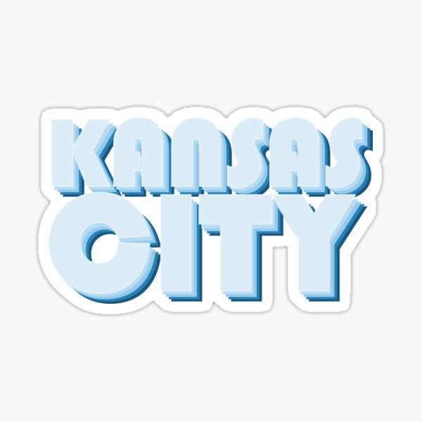 Light Blue Kansas City Sticker