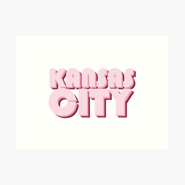 Pink-Red Kansas City Art Print