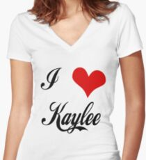 Firefly: I love Kaylee Women's Fitted V-Neck T-Shirt