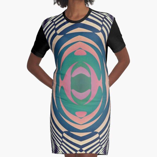 #OpArt, #visual #illusion, #VisualArt, opticalart, opticalillusion, opticalillusionart, opticalartillusion, psyhodelic, psichodelic, psyhodelicart Graphic T-Shirt Dress