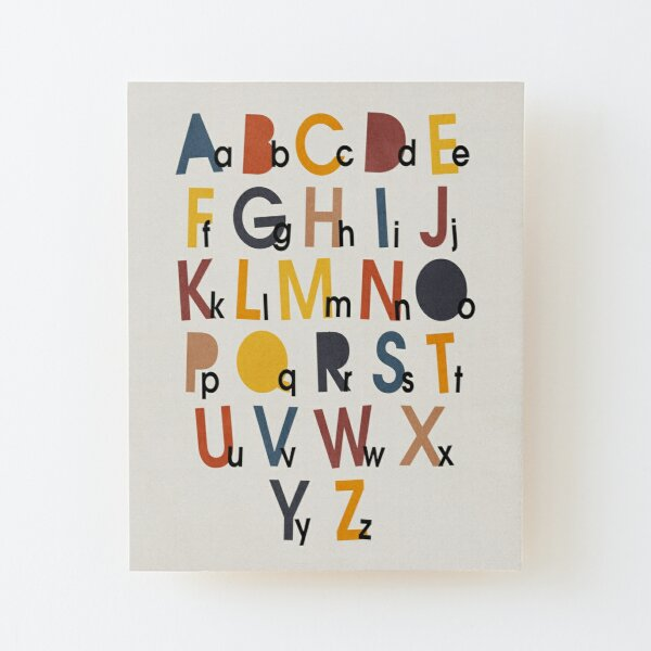 Alphabet Wall Wall Art Redbubble
