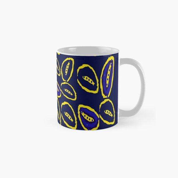 Yellow seed blue pattern Classic Mug