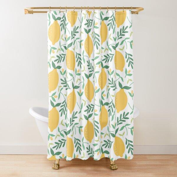 Vintage Lemons Shower Curtain