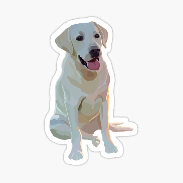 Yellow Lab Glossy Sticker