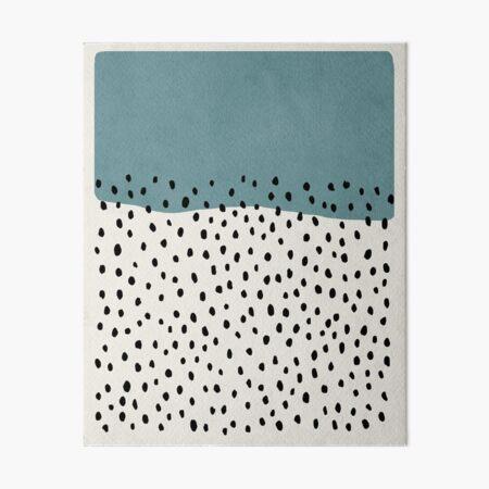 Abstract, Rain, Mid century modern kids wall art, Nursery room Art Board Print