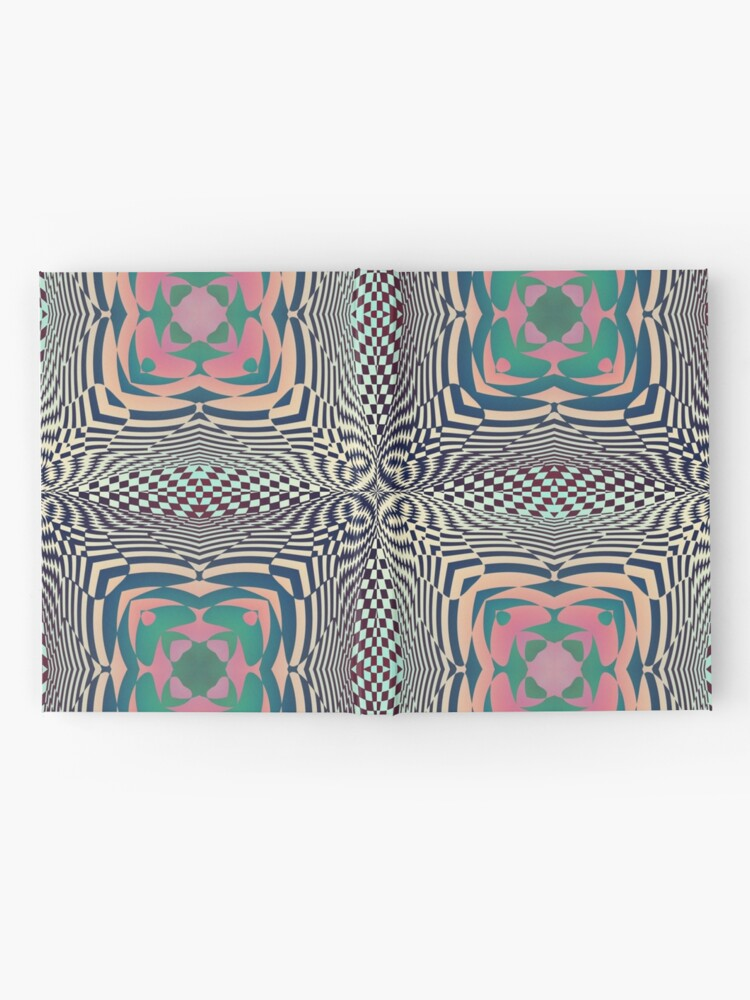 Alternate view of #OpArt, #visual #illusion, #VisualArt, opticalart, opticalillusion, opticalillusionart, opticalartillusion, psyhodelic, psichodelic, psyhodelicart Hardcover Journal