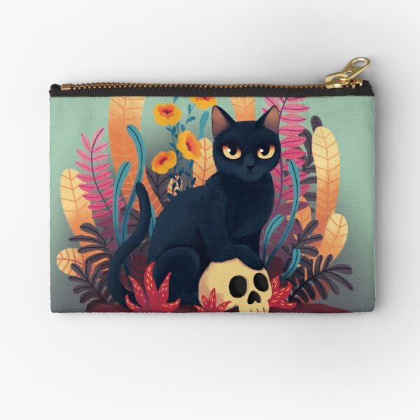 Skull kitty Zipper Pouch