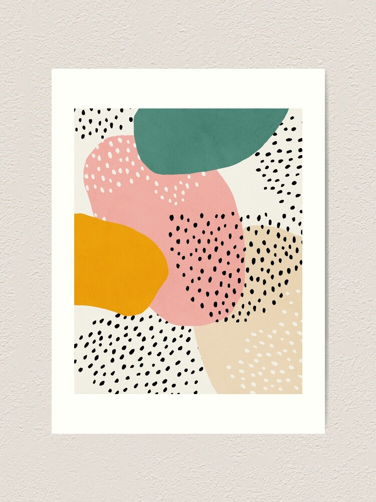 Alternate view of Abstract, Mid century modern kids wall art, Nursery room Art Print