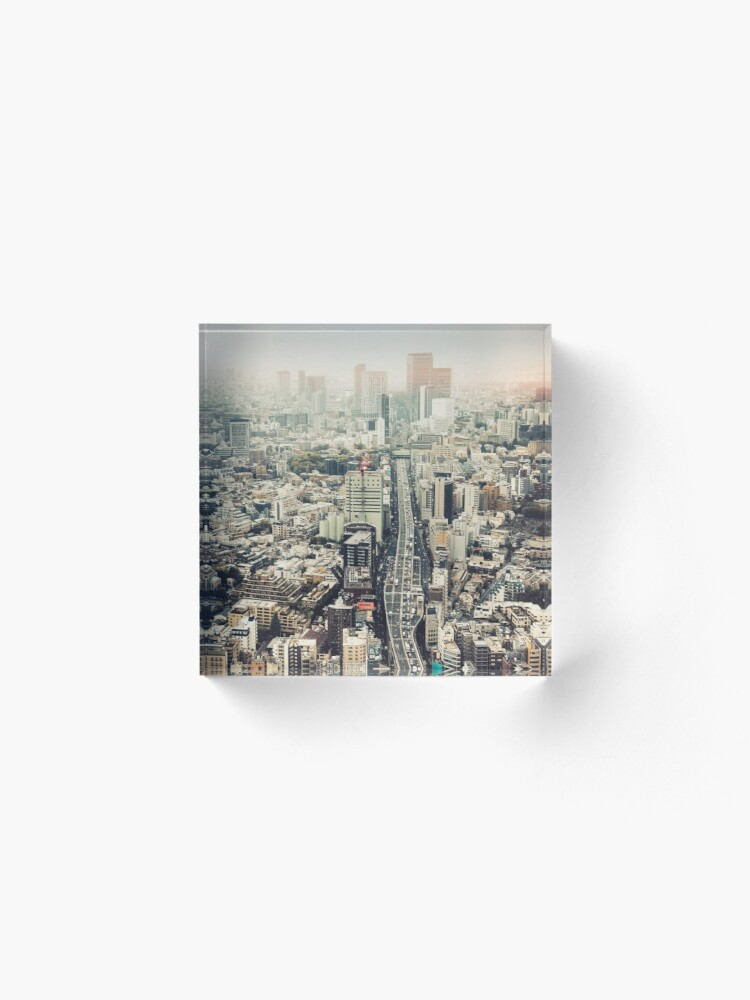 Alternate view of From Shibuya to Roppongi Acrylic Block