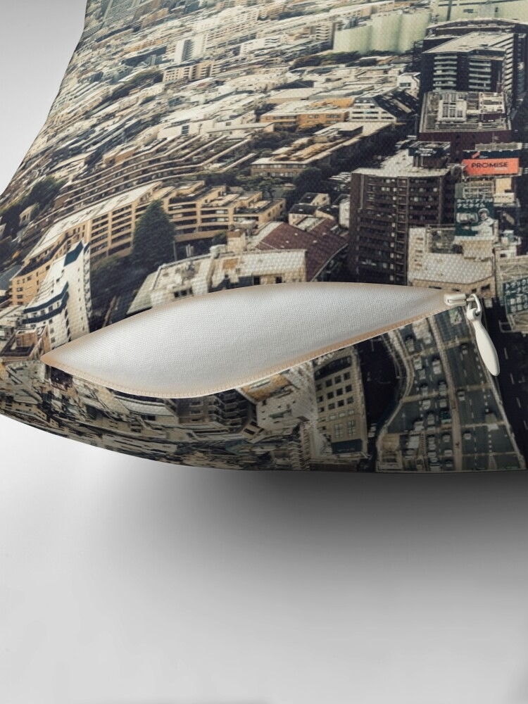Alternate view of From Shibuya to Roppongi Throw Pillow