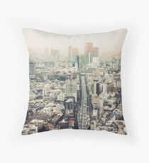 From Shibuya to Roppongi Throw Pillow
