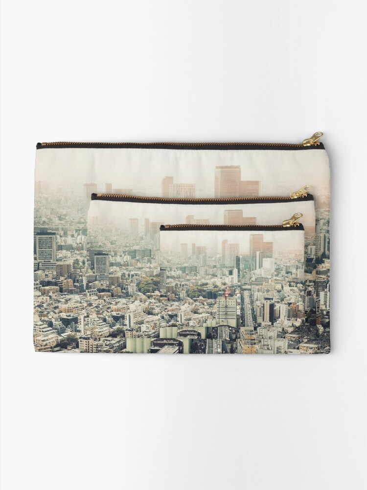 Alternate view of From Shibuya to Roppongi Zipper Pouch