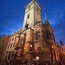 Prague clock tower by doug hunwick