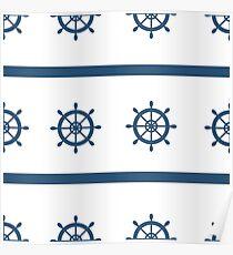 Sailor Nautical Marine Pattern Poster