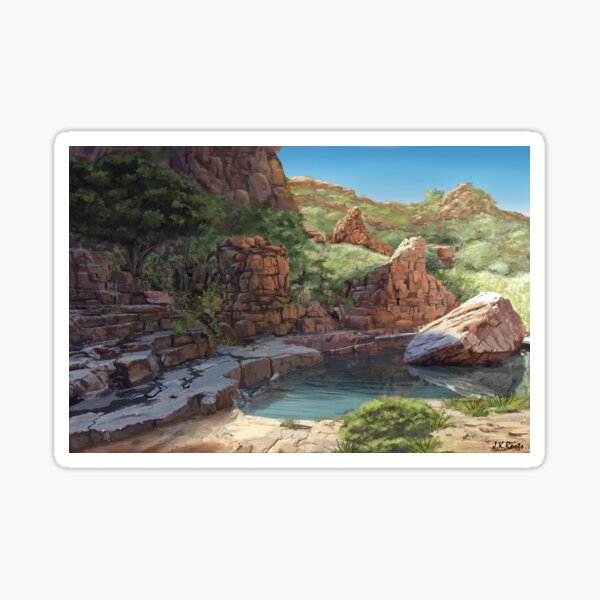 Outback Oasis Sticker