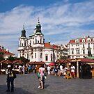 Prague square by doug hunwick
