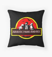jurassic parks and rec Throw Pillow