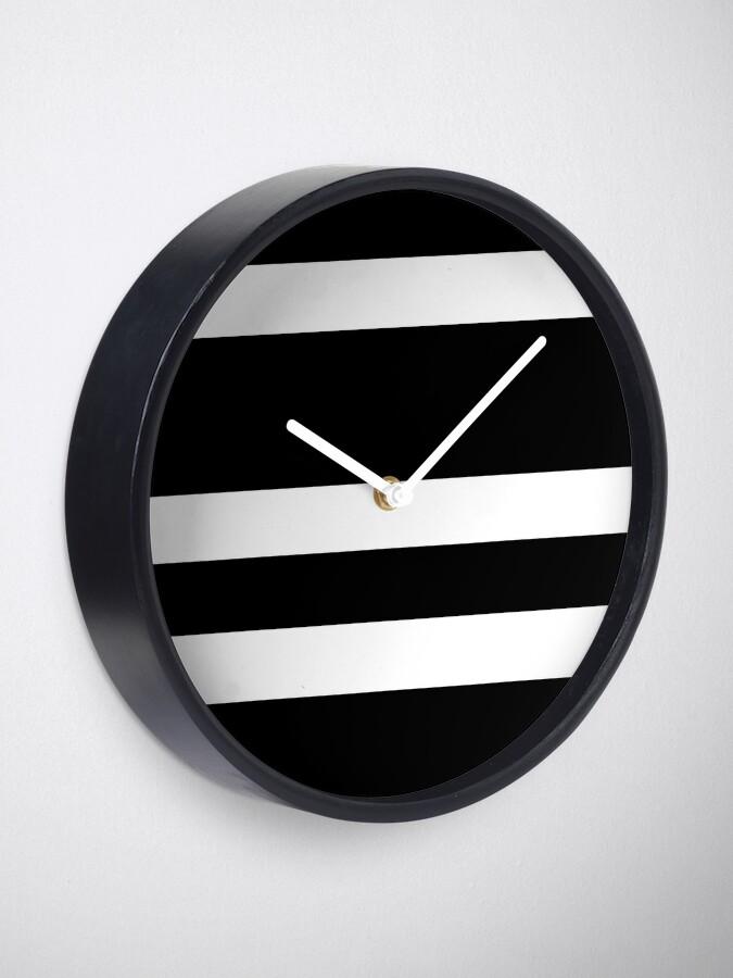 Alternate view of Black and white modern stripe pattern Clock