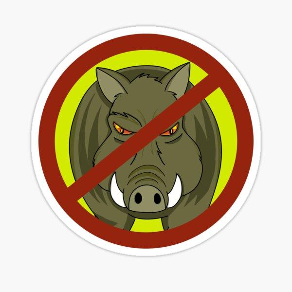 Feral Hogs- No Trespassing  Sticker