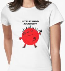 Little Miss Anarchy Womens Fitted T-Shirt
