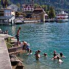 Swiss lake swim by doug hunwick