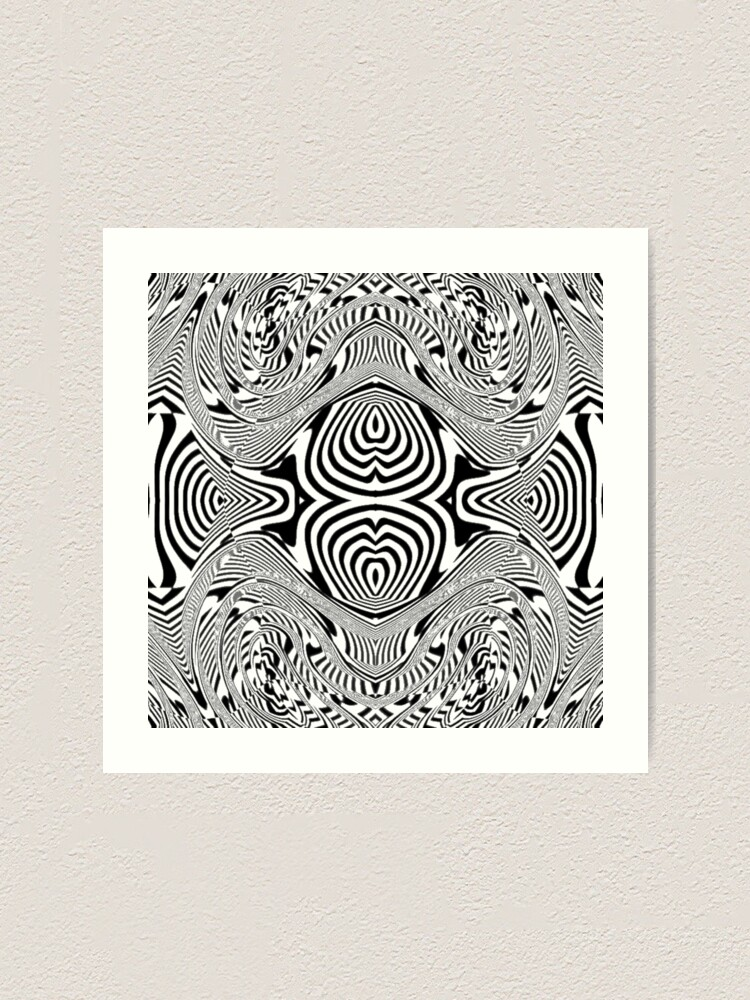 Alternate view of #OpArt, #visual #illusion, #VisualArt, opticalart, opticalillusion, opticalillusionart, opticalartillusion, psyhodelic, psichodelic, psyhodelicart Art Print