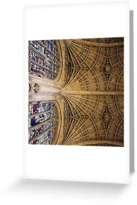 Stone vaulting, Kings College, Cambridge. by John Dalkin